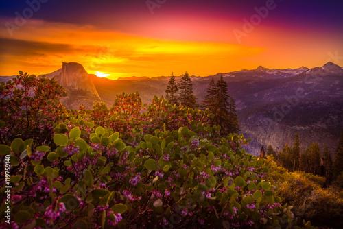 Valokuva  Yosemite National Park Sunrise Glacier Point