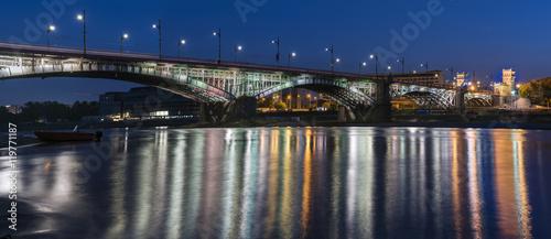 Fototapeta premium Most Poniatowskiego nad Wisłą w Warszawie