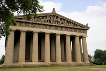 Concrete Full Sized Replica Of The Parthenon Temple In Nashville Tennessee