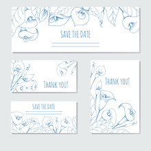 Hand-drawing Floral Background With Flower Calla
