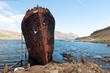 rusty shipwreck in Djupavik, Iceland
