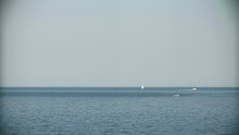Boat With Diver On The Ocean D...