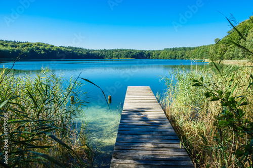 Printed kitchen splashbacks Lake Landschaft am Trünnensee an der Mecklenburger Seenplatte