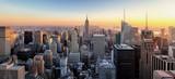 Fototapeta Nowy York - New York City. Manhattan downtown skyline with illuminated Empir
