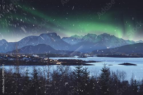 Winter mountains in Norway - Alesund