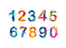 Collection Of Digits. Numbers,...