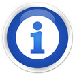 Info icon blue glossy round button