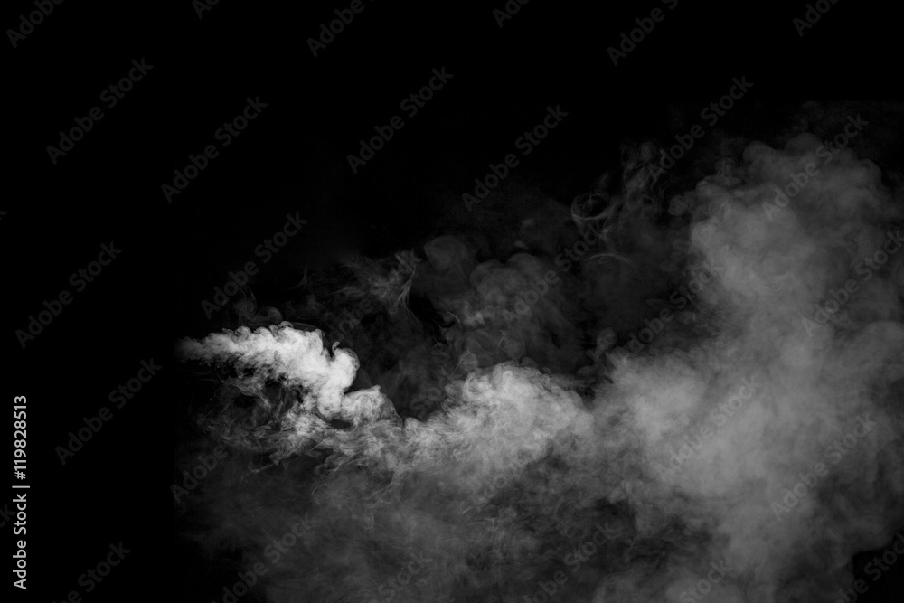 Fototapeta Smoke on black background