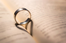 Ring With Love Shape, Hearth Shadow In A Book