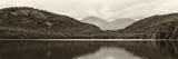 lake and mountains, black and white photo - 119836980