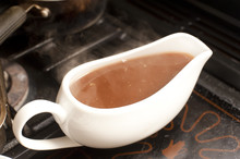 Gravy Boat Filled With Rich Hot Gravy