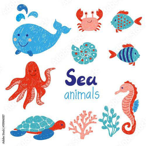 bajkowe-zwierzeta-morskie-w-kolorach-czerwonym-i-niebieskim
