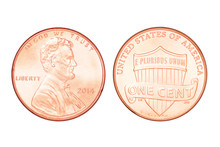 One US Cent Isolated