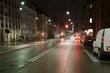 Urban street at night
