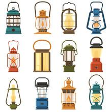 Vintage Camping Lantern Set Is...