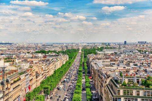 Staande foto Parijs PARIS, FRANCE - JULY 06, 2016 :Beautiful panoramic view of Paris