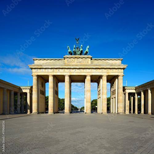 Spoed Fotobehang Berlijn Das Brandenburger Tor, Morgenlicht, Berlin, Deutschland