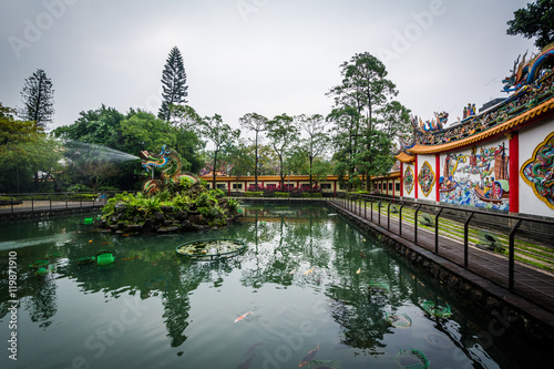 Pond at a park in the Datong District, in Taipei, Taiwan.