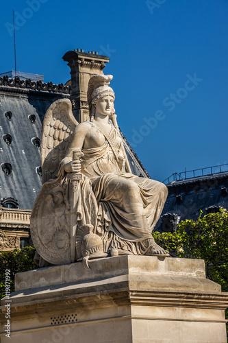Staande foto Parijs Ancient sculpture in Tuileries garden (1564). Paris, France.