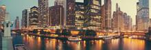 Panorama Of Chicago, Illinois.