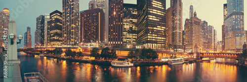 Acrylic Prints Chicago Panorama of Chicago, Illinois.
