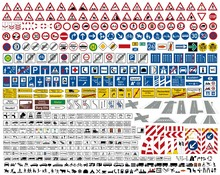 Verkehrszeichen STVO Sammlung Icon Set Vektor / German Traffic Road Sign Icon Vector Collection Set