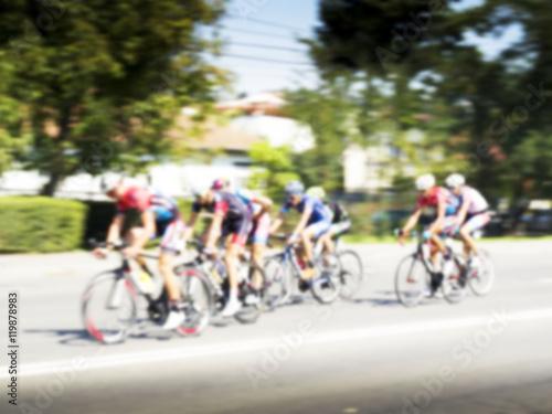 Foto op Aluminium Bicycle Race, blurred background