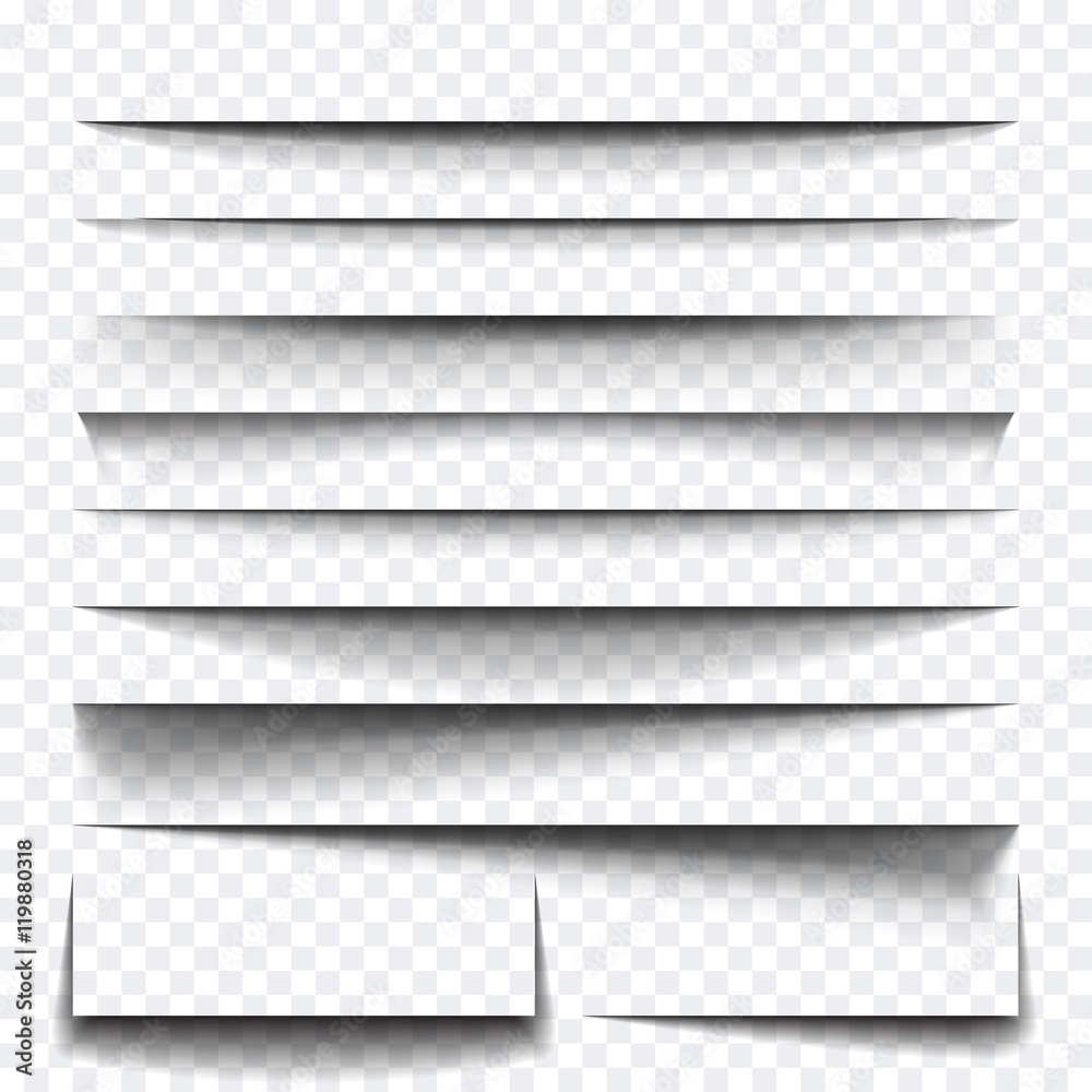 Fototapeta Paper sheet shadow effect