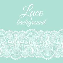 Mint Lace Border
