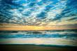 Beautiful dramatic sky over the beach