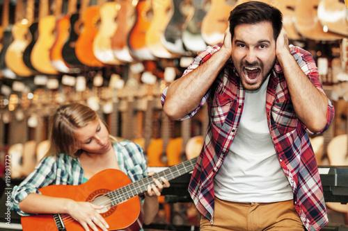 Staande foto Muziekwinkel Music Store