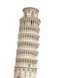 Leinwandbild Motiv The Leaning Tower of Pisa isolated on white