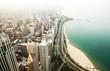 Chicago and Michigan lake.