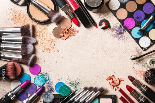 Makeup products Canvas Print