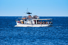 Typical Touring Boat On Adriatic Sea, Croatia. August 23th, 2016
