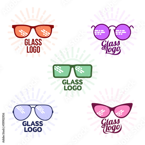 2aa10f953833 Glasses logo set