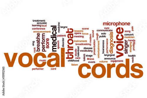 Vocal cords word cloud - Buy this stock illustration and