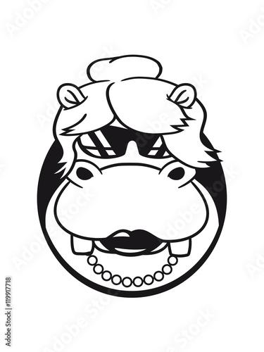 6f0edad300ac face head hole girl woman female sexy cute girl rich sunglasses celebrity hippo  small thick sweet cute comic cartoon hippo