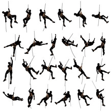 Climber Silhouette Two Color