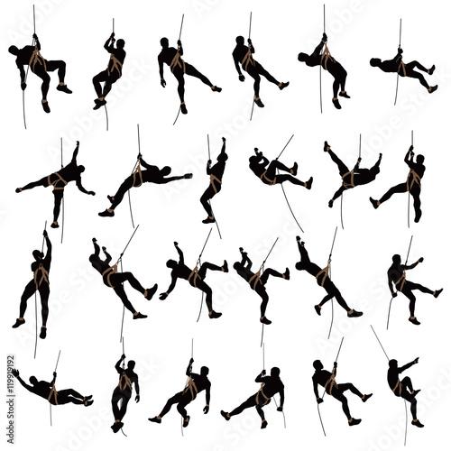 climber silhouette two color Fototapeta