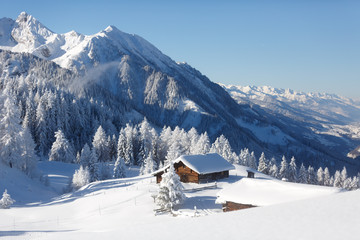Zimowa bajka w Alpach