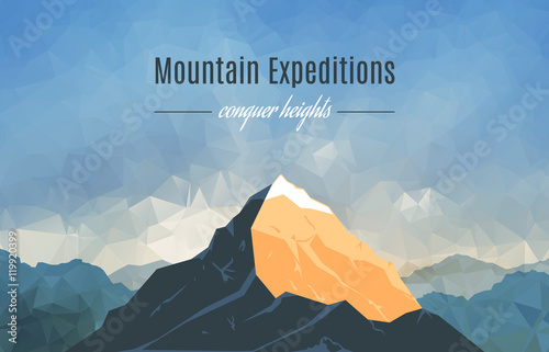 Fotografie, Tablou Landscape With Mountain Peak 2