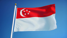 Singapore Flag Waving Against ...