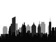black cityscape