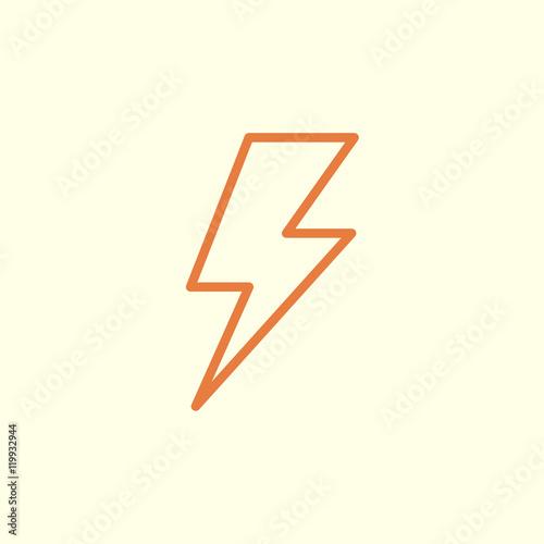 Fototapeta flash line icon obraz na płótnie