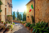 Small Mediterranean town - lovely Tuscan stree