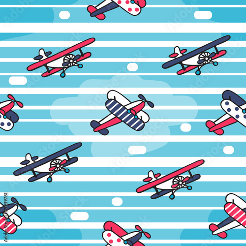 Cotton fabric Vector seamless pattern in retro style.