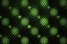 Abstract Fractal Magic Emerald Green Symmetrical Ornament