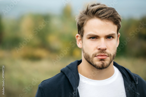 Photo  Young bearded sexy guy