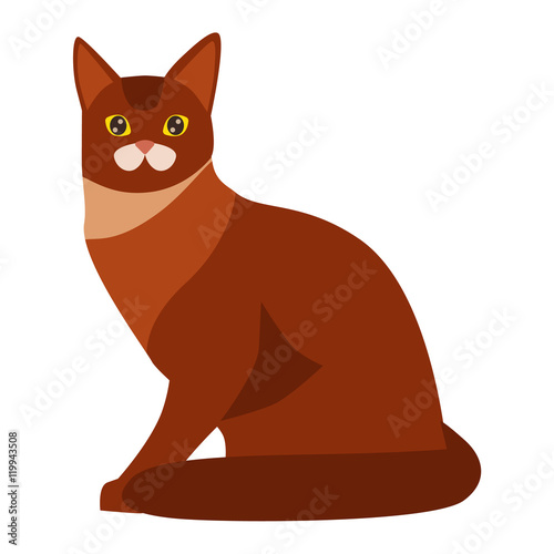 Cat Cartoon Style Vector Silhouette Cute Domestic Cat Animal Sitting Cartoon Cat Young Adorable Tail Symbol Playful Cartoon Funny Domestic Pussy Kitty Cat Sit Character Buy This Stock Vector And Explore